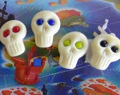 ARR! Pirate Skull Player Markers (set of 4) by Jenefer Ham Pawns Board Game