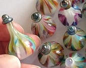 POTIONs! beautiful lampworked glass sculpture player marker made by Jenefer Ham