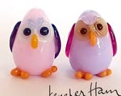 HOOT owls! Sculpture/ Miniature/ Cake Topper / Wedding Gift / Player Marker by Jenefer Ham Board Game Glass