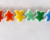 tinted MEEPLE bracelet -- choose your colors! super cute meeple glass made by Jenefer Ham
