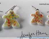 Rainbow Sprinkles MEEPLE jewelry!  glass earrings, necklace, cufflinks, pin, brooch made by Jenefer Ham