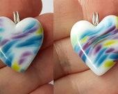 HEART! Beautiful glass necklace made Jenefer Ham