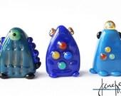 ROBOTs! Sculpture/ Miniature/ Gift / Player Marker by Jenefer Ham Board Game Glass