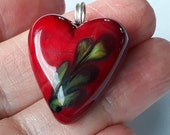 Red heart! Beautiful glass necklace made Jenefer Ham