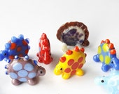 DINOS! Dinosaur Jurassic Player Markers by Jenefer Ham Pawns Board Game Glass Sculpture