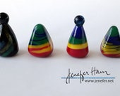 Choose your RAINBOW marker! Glass Sculpture/Miniature/Mascot/Marker/Pawn made Jenefer Ham Board Game