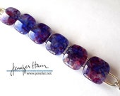 CELEBRATIONS! beautiful plum tones glass bracelet - Jenefer Ham