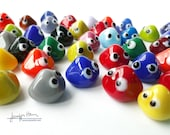 GOOGLIES! game markers / pawns by Jenefer Ham Glass for board gaming