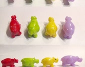 HIP to be HIPPOs!  Glass Sculpture Player Markers Figurine Miniature by Jenefer Ham Pawn Board Game