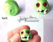 Zombie! Glass Sculpture/Miniature/Mascot/Marker/Pawn made Jenefer Ham Board Game