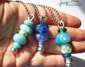 choose from 8 TOTEMs! Stacked beads beautiful lampworked glass necklace made by Jenefer Ham