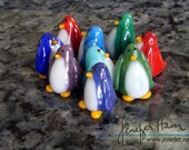 PENGUIN! Sculpture/ Miniature/ Cake Topper / Wedding Gift / Player Marker by Jenefer Ham Board Game Glass