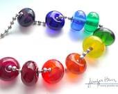 Rainbow! beautiful lampworked glass necklace - Jenefer Ham