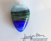 LAND SCENES! beautiful lampworked glass necklace made by Jenefer Ham