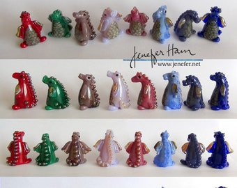 custom DRAGONs! Glass Sculpture Player Marker Figurine Miniature by Jenefer Ham Pawn Board Game