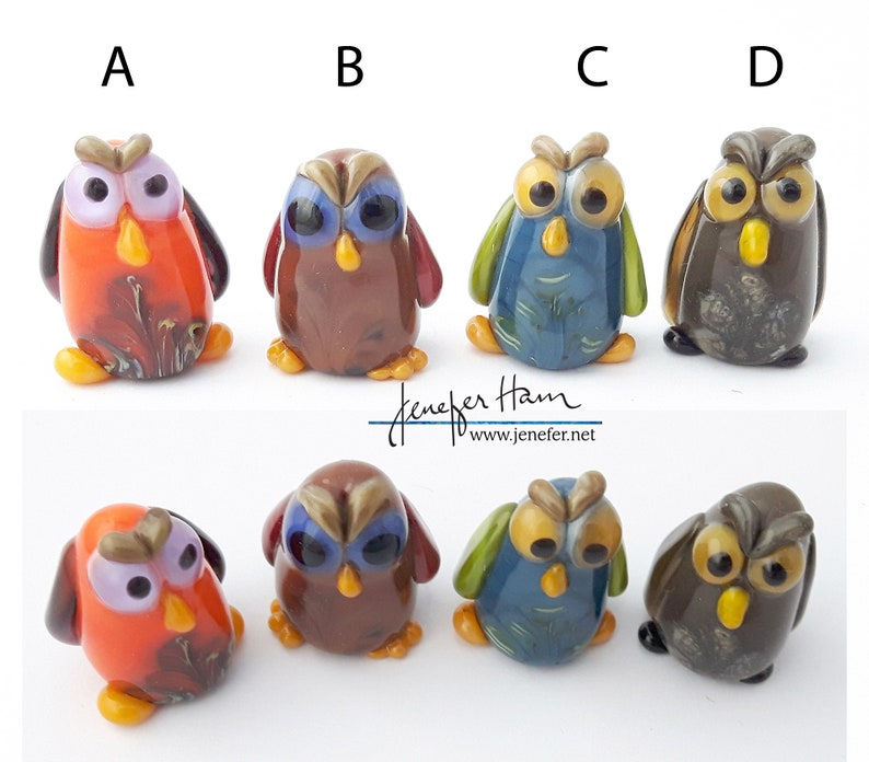 choose from 10 HOOT owls Sculpture/ Miniature/ Cake Topper / image 0