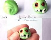 Zombie! Glass Sculpture/Miniature/Mascot/Marker/Pawn made Jenefer Ham Board Game