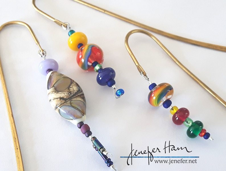 Choose your beady bookmark lampworked glass bookmarks by image 0