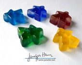 Glass Meeples - SET OF 4 or 5! Sandblasted Cast glass Player Markers by Jenefer Ham Pawns Board Game Glass Sculpture