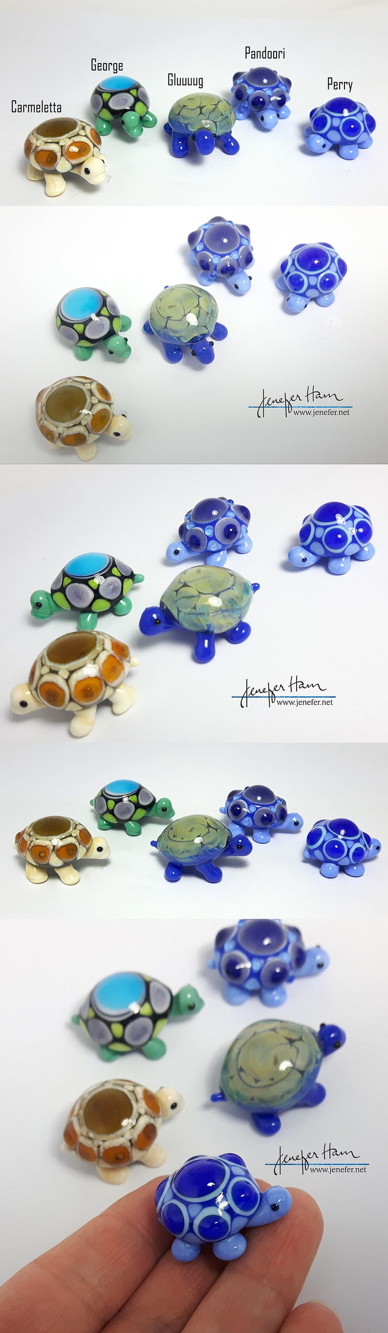 TURTLE Hand Made Glass Figurine Sculpture Board Game Player image 0