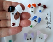 PLAYFUL PUPPY! 10 larger brooches to choose from -- HAMinal brooch for dog lovers puppy pup dawg pet
