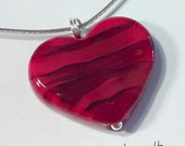 LOVE! Custom made beautiful lampworked glass necklace made by Jenefer Ham