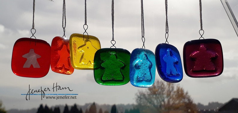 A Rainbow of Meeple Light Catchers choose from a rainbow of image 0