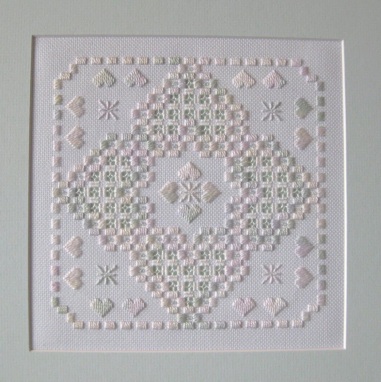 Corazón de Hardanger patrón de costura | Etsy