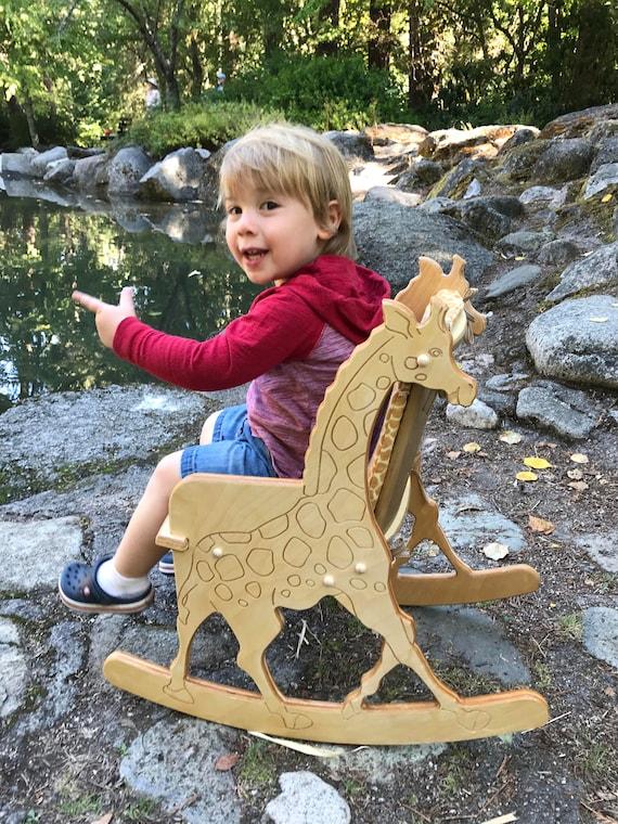 Toddler Giraffe Rocking Chair With Cushion Kids Rocking