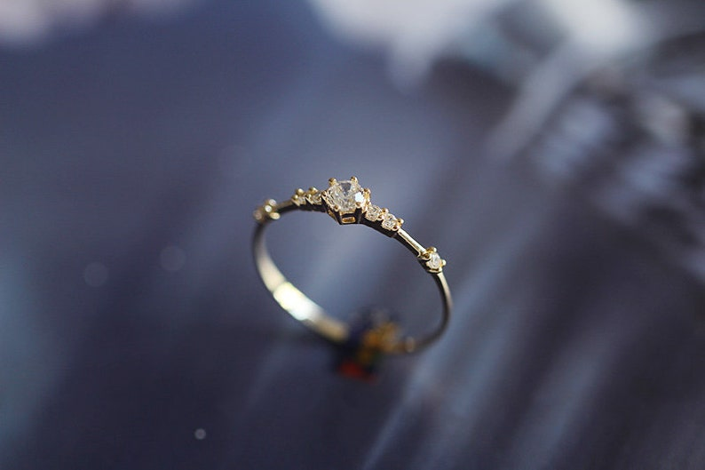 Promise ring,14K Gold Filled Promise ring for her,Engagement ring,Princess Ring,Wedding,CZ Stone ring