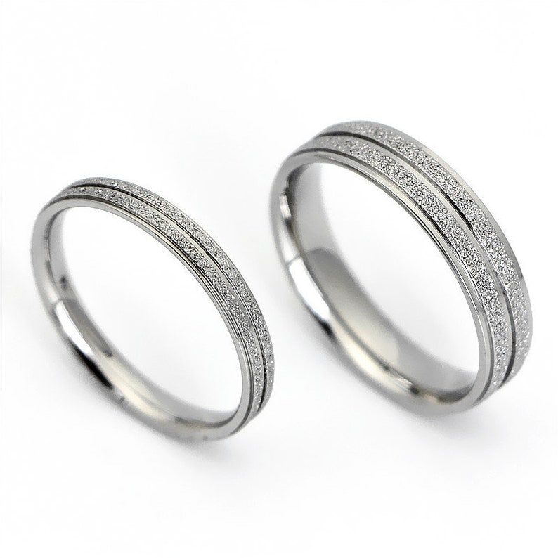Promise Couple Rings,Rings Set,Personalized His and Her Engagement Rings,Titanium steel Engrave Ring Set