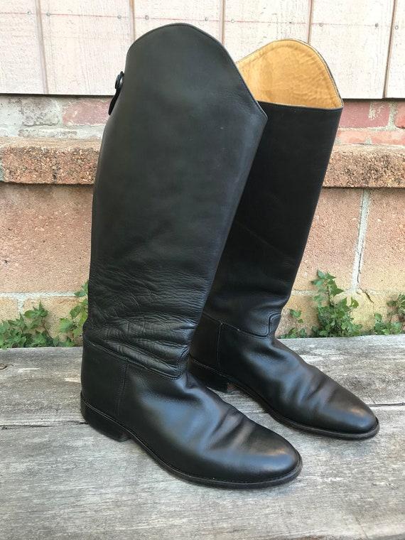 Vintage Black Riding-style Boots Mens Size 10 | Bl