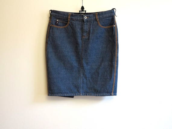 GUESS Denim Skirt Blue Denim Skirt Mini Denim Penc