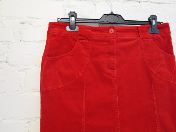 Set of Two Piece Suit Hot Red Womens Jacket Micro… - image 8