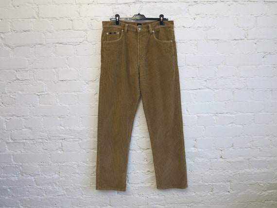 HUGO BOSS Arkansas Camel Brown Corduroy Pants Mens
