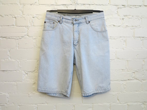 Light Blue Denim Shorts Vintage Women's Shorts Den
