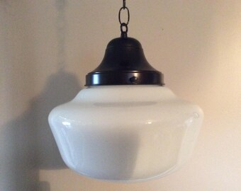 milk glass light etsy