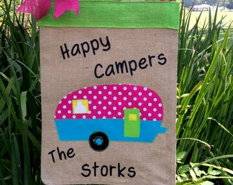 Camper Flag, Happy Campers Sign, Spring Flags, Home Is Where We Park It Sign, Vintage Camper,This Is How We Roll, Mother's Day , Retirement
