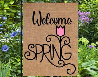 Easter Garden Flag Personalized Easter Yard Decor Spring Etsy