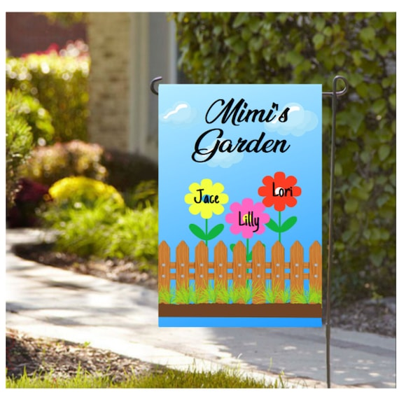 Personalized Grandma Garden Flag Nana Flag Mom S Garden Flag