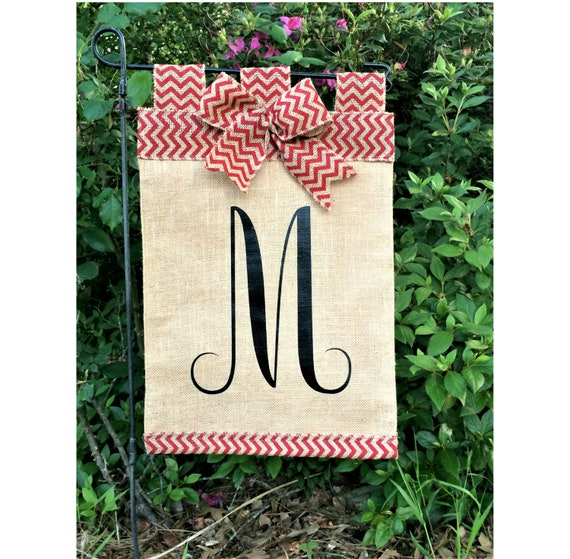 Initial Garden Flag Burlap Flags Fall Garden Flag Home And Etsy