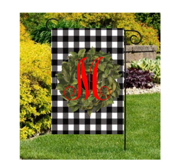 Initial Garden Flag Buffalo Palid Flag Personalized Yard Flags