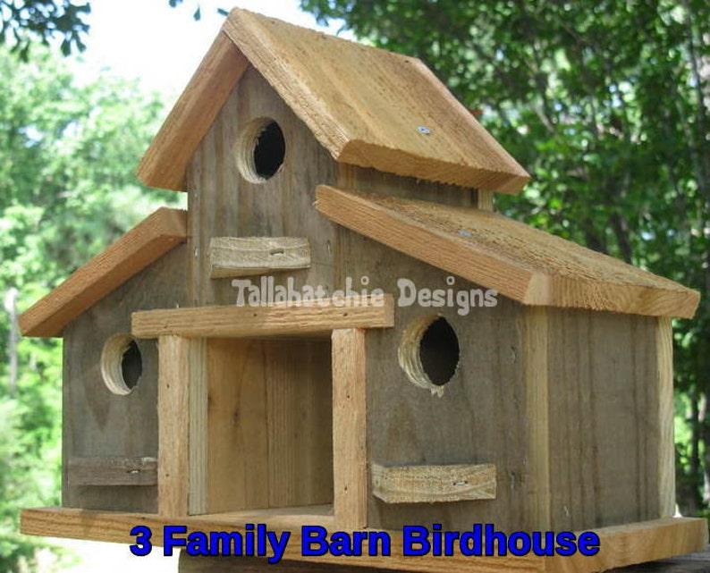 Sensational Barn Birdhouse Fall Yard Decor Rustic Decor Unique Birdhouse Rustic Bird House Outdoor Ts Small Barn Birdhouse Interior Design Ideas Philsoteloinfo