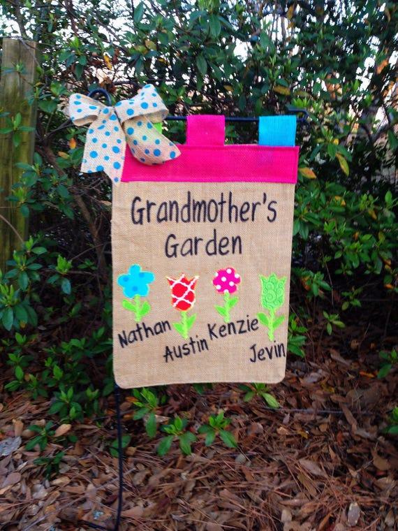 Grandkid Name Flag Grandma Garden Flag Flag With Grandkids   Etsy