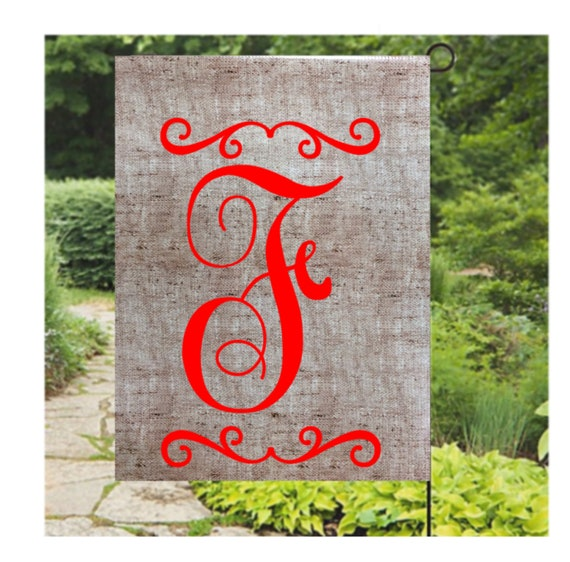 Personalized Garden Flags Initial Flags Home And Living Welcome