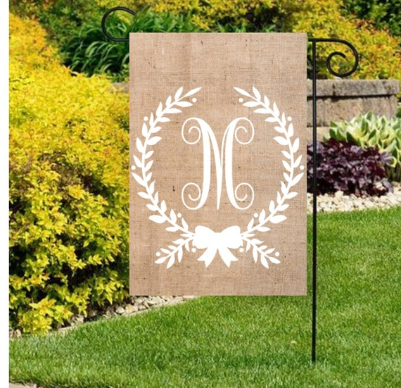 Monogram Initial Flag Personalized Yard Flag Decor Gift For Her