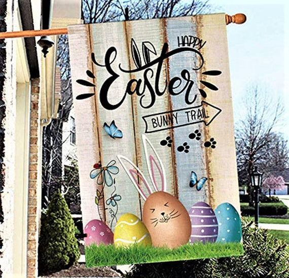 Easter Garden Flags Spring Welcome Flags Bunny Flags