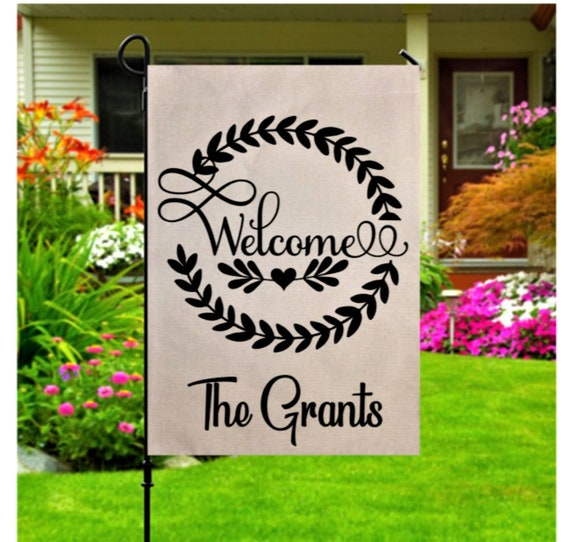 Personalized Family Name Garden Flag