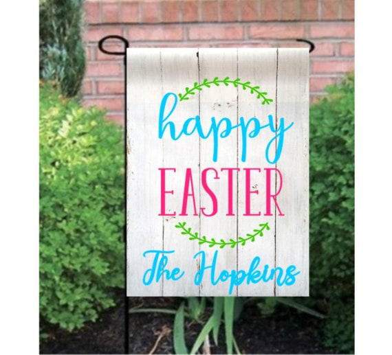 Easter Garden Flag Personalized Easter Yard Decor Spring Yard