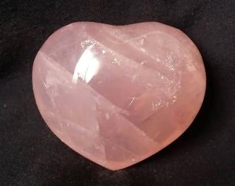 Rose Quartz Crystal Heart Pink Quartz Heart Shaped Healing Crystals | Healing Stones | Rocks and Minerals 1186